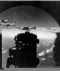 P-51's escorting a B-29